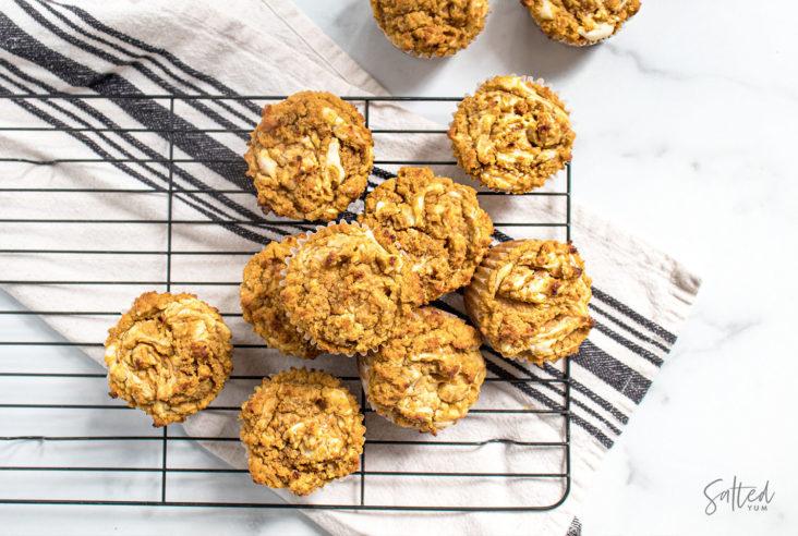 keto pumpkin cheesecake muffins